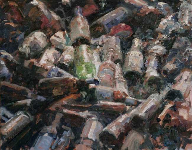 Michael Kareken Scrap Bottle Study - detail
